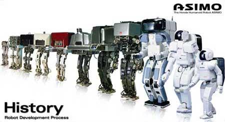 20 años de evolución del robot ASIMO en imágenes