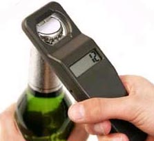 Destapador de botellas con contador electrónico