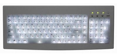 Un teclado ilunimado por LED's
