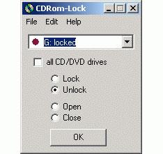 Software para bloquear las unidades ópticas