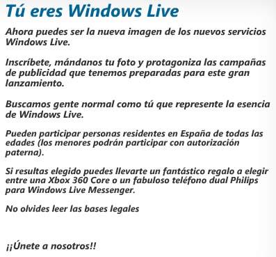 Tu cara en los productos Live de Microsoft