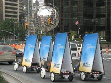 Publicitando IE7 por las calles de Estados Unidos