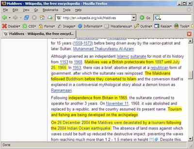 TextMarker, extensión para Firefox 1.x