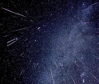 "Lluvia de meteoros ""Gemínidas"""
