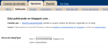 Blogs en Blogger con dominio propio