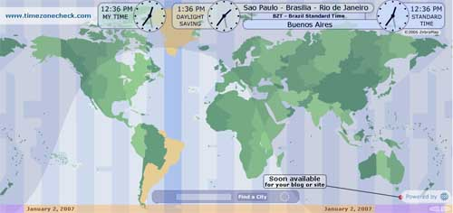 Time Zone Check, la hora mundial