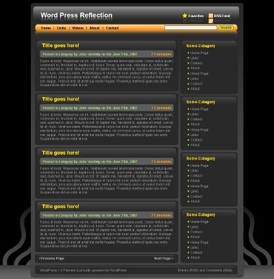 Reflection, theme para WordPress con diseño 2.0