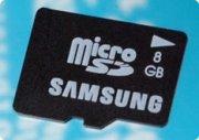Samsung anuncia memorias microSD de 8GB