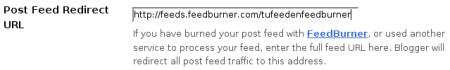 Integración del feed de Blogger con el de FeedBurner