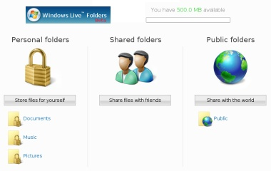 Windows Live Folders abierto al público