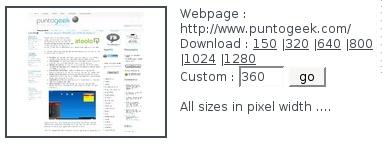Crea capturas de pantalla de un sitio web con Thumbalizr