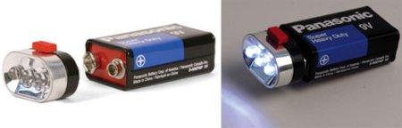 Simple linterna de LEDs para baterías de 9V