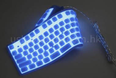 Teclado flexible de silicona con retroiluminación