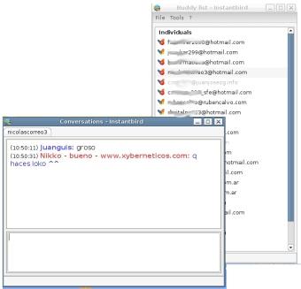 Intantbird, el mensajero instantáneo basado en Mozilla