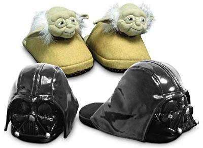 Pantuflas Geek, Yoda y Darth Vader en tus pies
