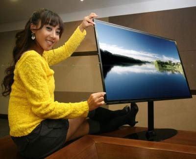 Samsung presentó pantalla LCD de 40″ y 1 centímetro de espesor