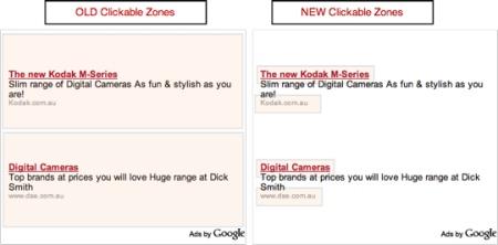 """¿Cambia el área de """"clickeo"""" de los anuncios de AdSense?"""