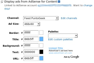 Integra AdSense en tu feed de FeedBurner