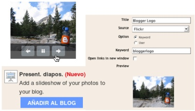 Nuevo módulo para mostrar slideshows de fotos en Blogger