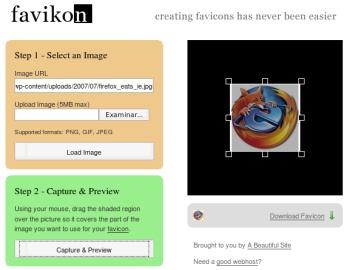 Crea tu favicon online con Favikon