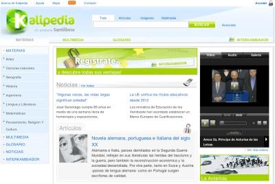 Kalipedia, la enciclopedia del Grupo Santillana