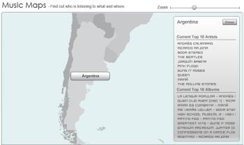 Music Maps, la música que más se escucha por país