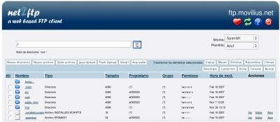Net2FTP, cliente de FTP vía web
