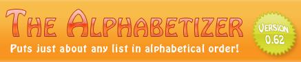 Organiza listas alfabéticamente con The Alphabetizer