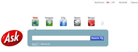 Ask.com te permite eliminar tus búsquedas de sus servidores