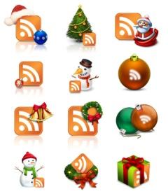 Íconos RSS con toques navideños