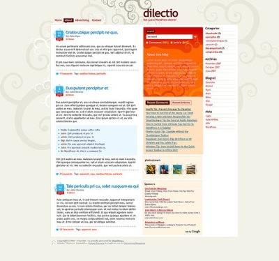 Dilectio, excelente theme a tres columnas para WordPress