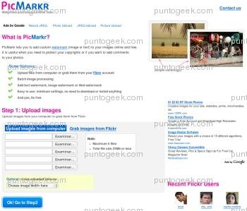 PicMarkr, excelente herramienta para agregar marcas de agua online