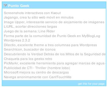 Crea un widget con las entradas de tu blog