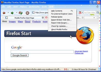 Pon tu Firefox con estilo navideño