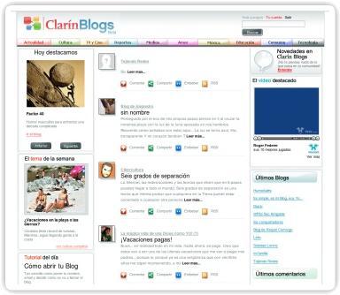 Clarín lanza su servicio de creación de blogs