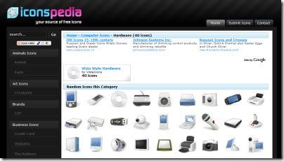 IconsPedia, sitio con excelente íconos gratis