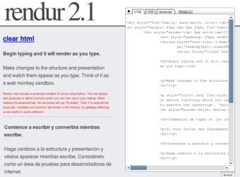 Rendur, excelente editor HTML/CSS online en tiempo real
