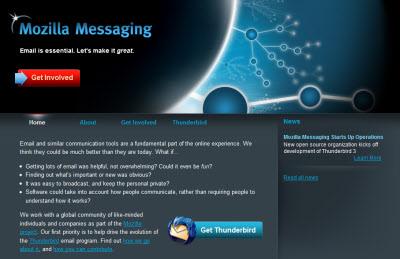 Lanzado Mozilla Messaging, el nuevo sitio de Thunderbird