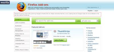 Mozilla Add-ons cambia de look próximamente