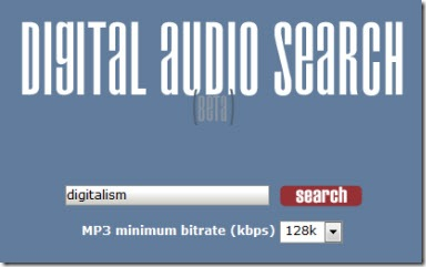 Encuentra música en internet con Digital Audio Search