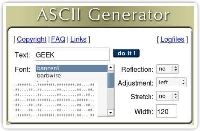 ASCII Generator