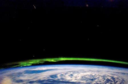Aurora Boreal vista desde la ISS