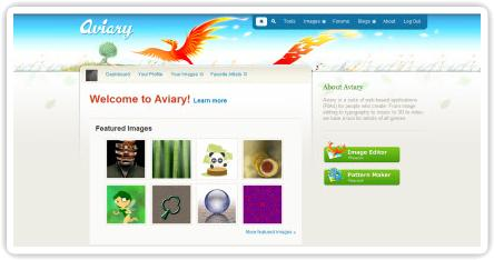Aviary, suite de edición multimedia online