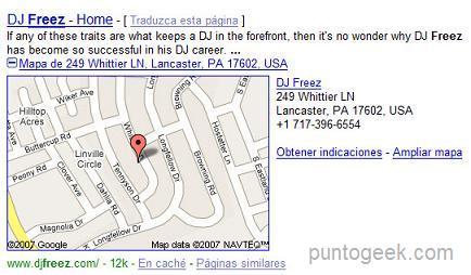 Google integrando mapas en los resultados de búsqueda