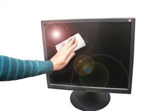Cómo limpiar un monitor LCD