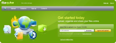 File Qube, interesante servicio de alojamiento de archivos de hasta 2GB