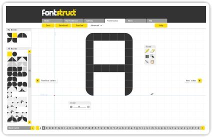 Crea tus propias fuentes online con FontStruct