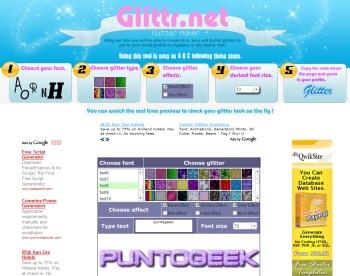 Glittr, excelente generador de logos con brillos