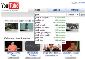 YouTube incorpora sugerencias en las búsquedas