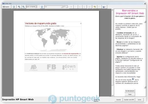 HP Smart Web Printing, imprime sólo lo que quieras de la web